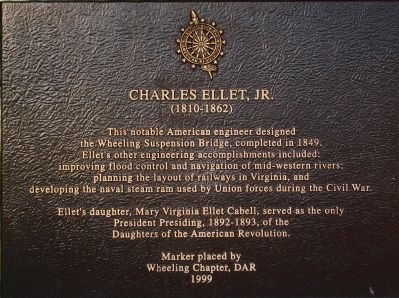 Charles Ellet, Jr. Marker image. Click for full size.