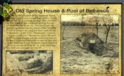 Old Spring House & Pool of Bethesda Marker image. Click for full size.