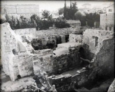 "Biblical ""Pools of Bethesda"" as they look today in Jerusalem image. Click for full size."