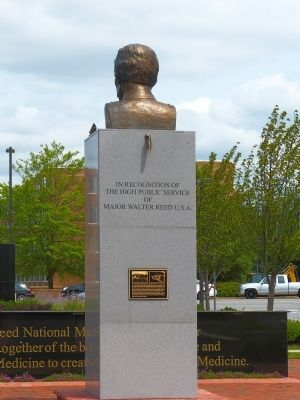 The Walter Reed Memorial Marker image. Click for full size.