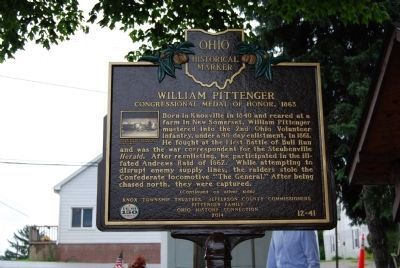 William Pittenger Marker image. Click for full size.