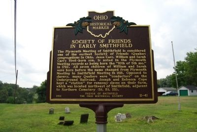 Society of Friends in Early Smithfield Marker image. Click for full size.