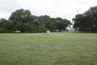 Camp Mabry Marker, as seen from the direction of the road image. Click for full size.