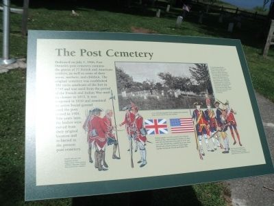 The Post Cemetery Marker image. Click for full size.