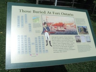 Those Buried At Fort Ontario Marker image. Click for full size.
