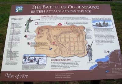 The Battle of Ogdensburg Marker image. Click for full size.