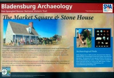 The Market Square & Stone House Marker image. Click for full size.