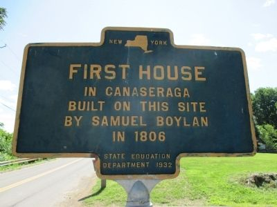First House in Canaseraga Marker image. Click for full size.