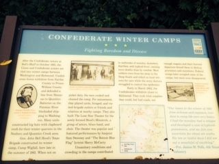 Relocated Confederate Winter Camps marker image. Click for full size.