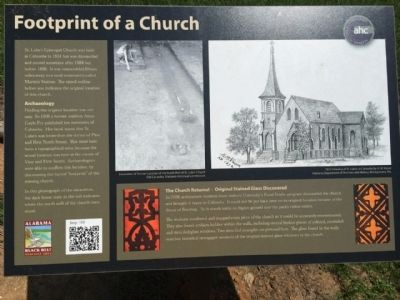 Footprint of a Church Marker image. Click for full size.