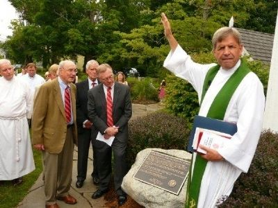 Zion Evangelical Lutheran Church Marker - Dedication Ceremony image. Click for full size.