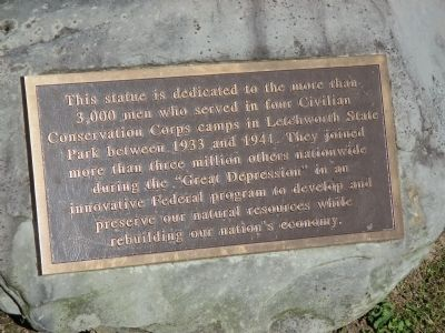 CCC Statue Marker image. Click for full size.