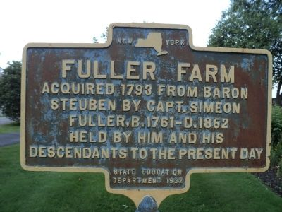 Fuller Farm Marker image. Click for full size.