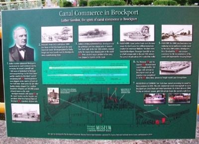 Canal Commerce in Brockport Marker image. Click for full size.