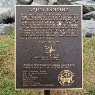 Aquia Landing Marker image. Click for full size.