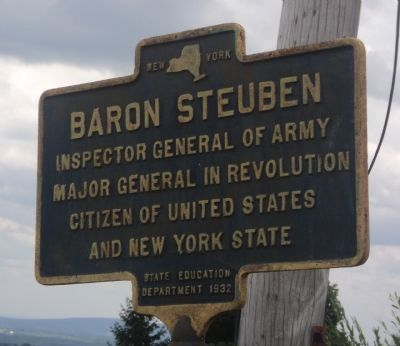 Baron Steuben Marker image. Click for full size.
