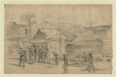 Field hospital (second corps) on the battlefield of Chancellorsville image. Click for full size.