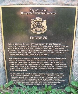 Engine 86 Marker image. Click for full size.
