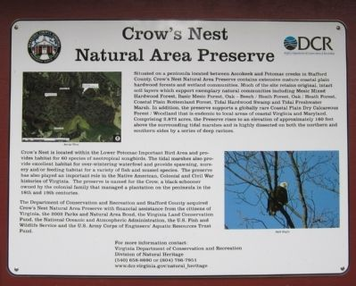 Crow's Nest Natural Area Preserve Marker image. Click for full size.