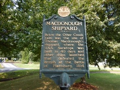 Macdonough Shipyard Marker image. Click for full size.