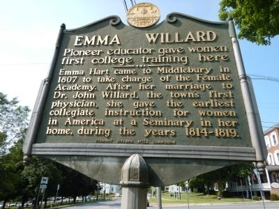 Emma Willard Marker image. Click for full size.