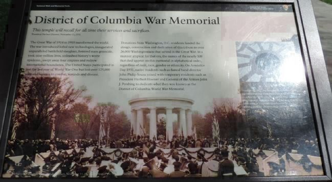 District of Columbia War Memorial Panel 3, South Lawn image. Click for full size.