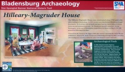 Hilleary-Magruder House Marker image. Click for full size.