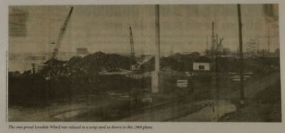 The once proud Lonsdale Wharf was reduced to a scrap yard image. Click for full size.