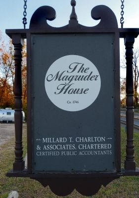 The Magruder House Ca. 1746 image. Click for full size.