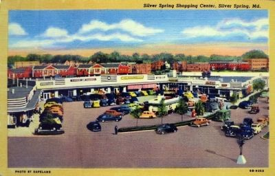 Silver Spring Shopping Center, 1946 Postcard image. Click for full size.