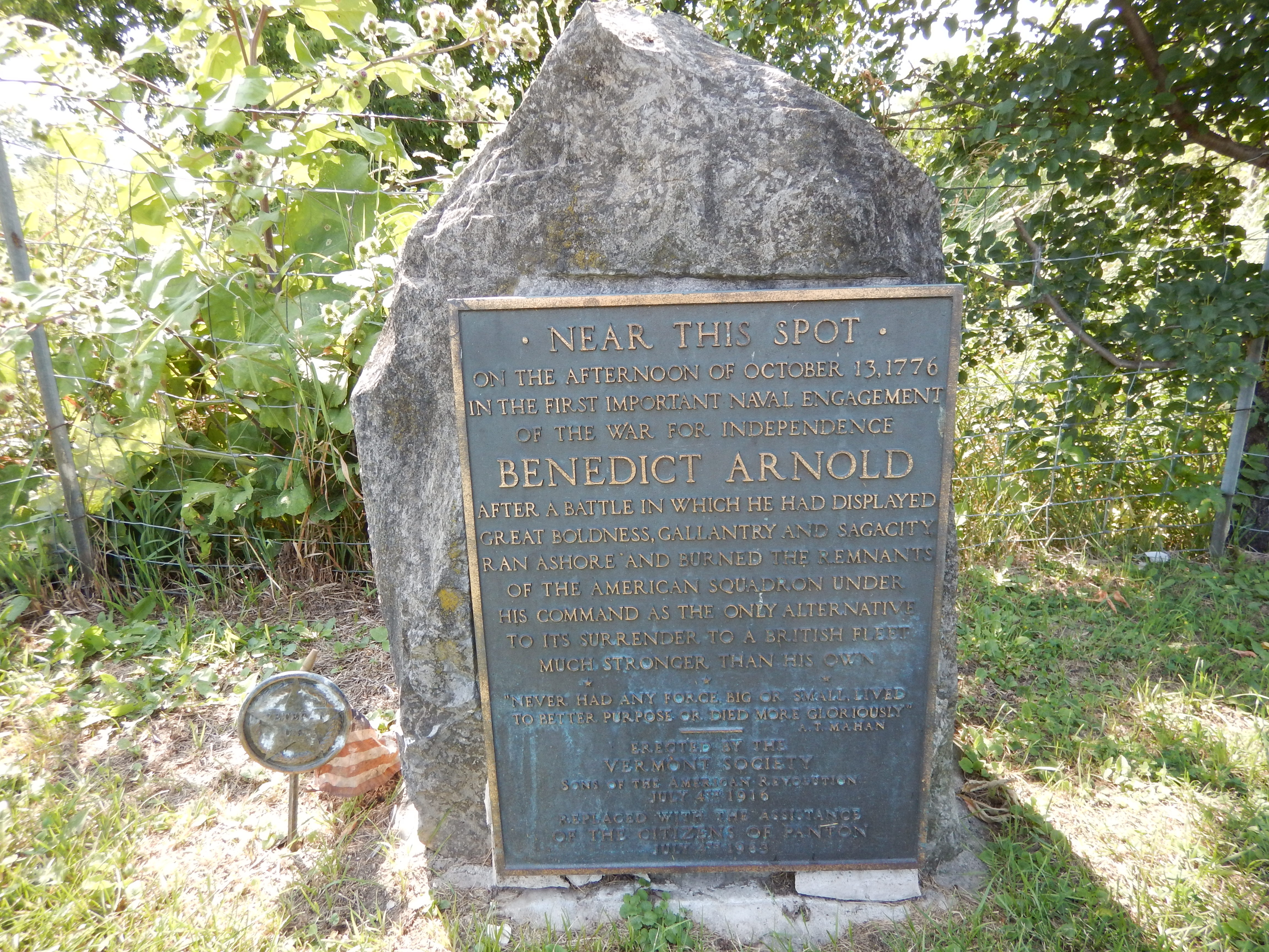 Benedict Arnold Marker