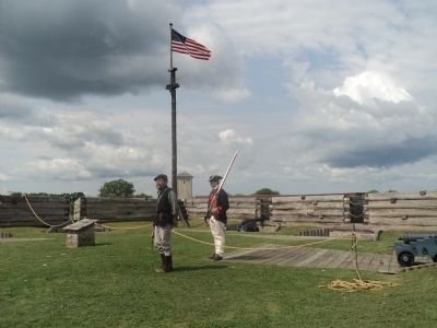 Guard on Duty at Fort Stanwix image. Click for full size.