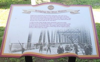 Bridging the Blue Waters Marker image. Click for full size.