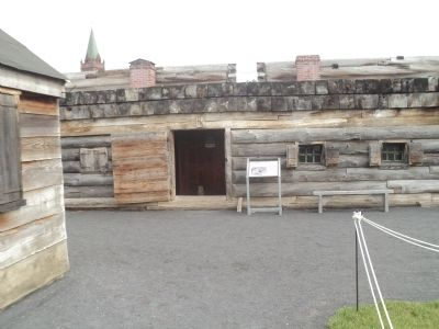 Marker in Fort Stanwix image. Click for full size.