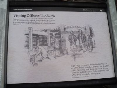 Visiting Officers' Lodging Marker image. Click for full size.