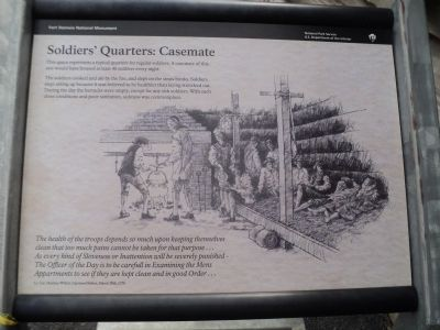 Soldiers' Quarters: Casemate Marker image. Click for full size.
