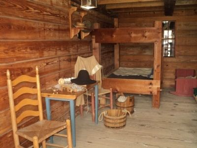 Inside the Family Quarters at Fort Stanwix image. Click for full size.