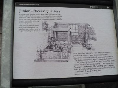Junior Officers' Quarters Marker image. Click for full size.