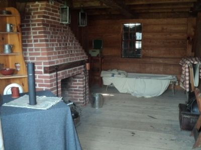 Tnside the Junior Officers' Quarters at Fort Stanwix image. Click for full size.