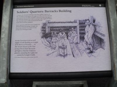 Soldiers' Quarters: Barracks Building Marker image. Click for full size.