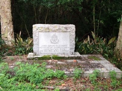 Marker for home place of James E. Oglethorpe image. Click for full size.