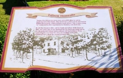 Edison Homesite Marker image. Click for full size.