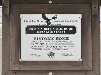 Bryon A. Buffington Home Marker image. Click for full size.