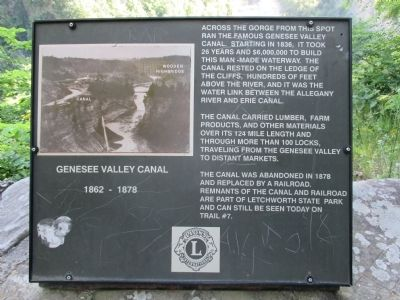 Genesee Valley Canal Marker image. Click for full size.