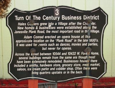 Turn of the Century Business District Marker image. Click for full size.