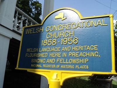 Welsh Congregational Church Marker image. Click for full size.