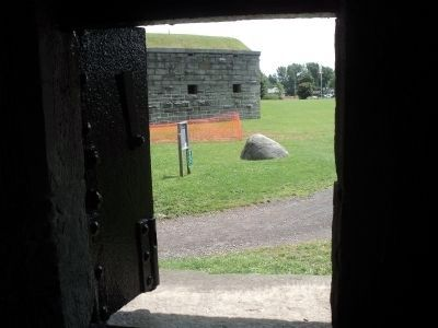 Fort Ontario Marker Seen from the Casemate image. Click for full size.