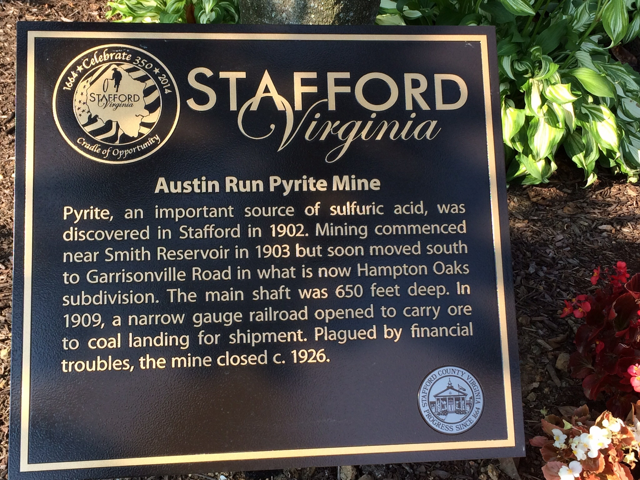 Austin Run Pyrite Mine Marker
