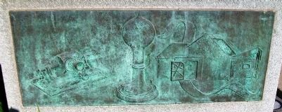 Thomas Alva Edison Monument Relief image. Click for full size.