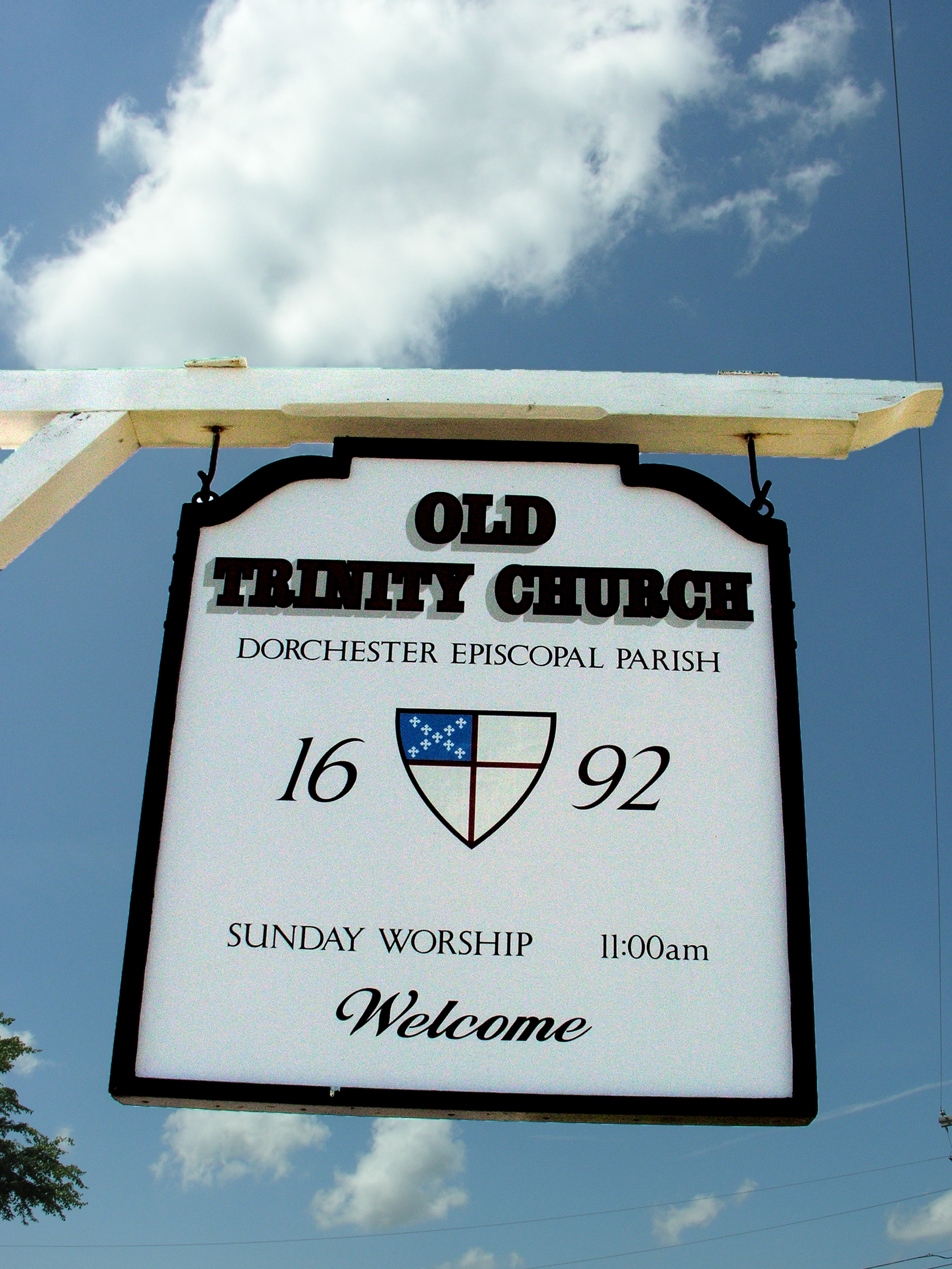 Old Trinity Church - Sign